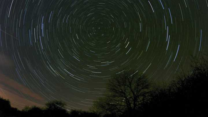 Star Trails around Polaris - Approx 1.5 hours exposure time.